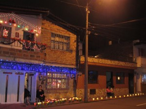 Las Velitas... the little candles all over the city Dec 7th
